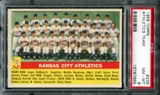 1956 Topps Baseball #236 Kansas City Athletics Team PSA 8 (NM-MT) *7655