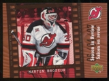 2007/08 McDonald's Upper Deck Season in Review #SR4 Martin Brodeur