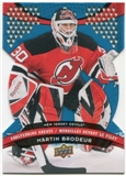 2009/10 McDonald's Upper Deck Goaltending Greats #GG6 Martin Brodeur
