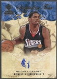 2008/09 SP Rookie Threads #SITRC Rodney Carney Scripted in Time Auto