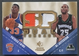 2008/09 SP Rookie Threads #TDEJ Patrick Ewing Al Jefferson SP Threads Dual Patch