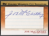 2012 Topps #JM Joe Mccarthy Golden Moments Cut Signatures Auto #1/1