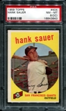 1959 Topps Baseball #404 Hank Sauer PSA 8 (NM-MT) (OC) *3643