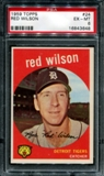 1959 Topps Baseball #24 Red Wilson PSA 6 (EX-MT) *3648