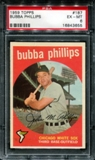 1959 Topps Baseball #187 Bubba Phillips PSA 6 (EX-MT) *3655