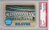 1968 Topps Baseball Braves Team PSA 8 (NM-MT) *8843