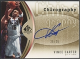 2006/07 SP Authentic #VC Vince Carter Chirography Gold Auto #25/25