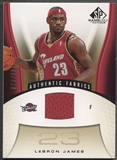 2006/07 SP Game Used #116 LeBron James Gold Jersey #097/100