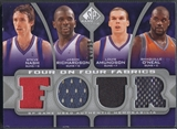 2009/10 SP Game Used #FFPHOSAC Nocioni Thompson Hawes Thomas O'Neal Nash Richardson Amundson Jersey #04/99