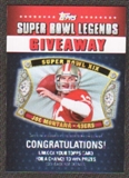 2011 Topps Super Bowl Legends Giveaway #SBLG3 Joe Montana
