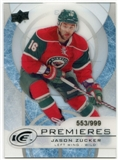 2012/13 Upper Deck Ice #33 Jason Zucker RC /999