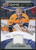 2012/13 Upper Deck Game Jerseys #GJAL Anders Lindback G