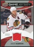 2012/13 Upper Deck Game Jerseys #GJBS Brent Seabrook D