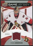 2012/13 Upper Deck Game Jerseys #GJCA Craig Anderson H