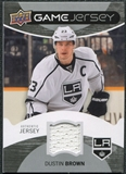 2012/13 Upper Deck Game Jerseys #GJDB Dustin Brown E