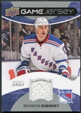 2012/13 Upper Deck Game Jerseys #GJDU Brandon Dubinsky F