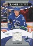 2012/13 Upper Deck Game Jerseys #GJDV David Booth F