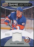 2012/13 Upper Deck Game Jerseys #GJGB Michael Grabner H