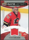 2012/13 Upper Deck Game Jerseys #GJHK Henrik Karlsson H