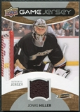 2012/13 Upper Deck Game Jerseys #GJJH Jonas Hiller H