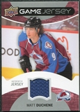 2012/13 Upper Deck Game Jerseys #GJMD Matt Duchene F