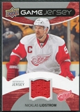 2012/13 Upper Deck Game Jerseys #GJNL Nicklas Lidstrom H