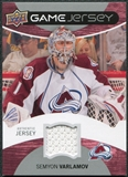 2012/13 Upper Deck Game Jerseys #GJSV Semyon Varlamov G