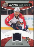 2012/13 Upper Deck Game Jerseys #GJWS Stephen Weiss H
