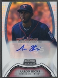 2011 Bowman Sterling #AH Aaron Hicks Prospect Refractor Auto #137/199