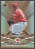 2009 Upper Deck Spectrum Gold Jersey #27 Edinson Volquez /99
