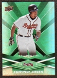2009 Upper Deck Spectrum Green #6 Chipper Jones /99