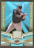 2009 Upper Deck Spectrum Spectrum Swatches Light Blue #SSAG Adrian Gonzalez /99