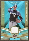 2009 Upper Deck Spectrum Spectrum Swatches Light Blue #SSBS Ben Sheets /99