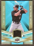 2009 Upper Deck Spectrum Spectrum Swatches Light Blue #SSCB Carlos Beltran /99