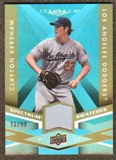 2009 Upper Deck Spectrum Spectrum Swatches Light Blue #SSCK Clayton Kershaw /99