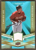 2009 Upper Deck Spectrum Spectrum Swatches Light Blue #SSCL Carlos Lee /99