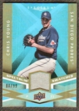 2009 Upper Deck Spectrum Spectrum Swatches Light Blue #SSCY Chris Young /99