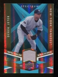 2009 Upper Deck Spectrum Spectrum Swatches Light Blue #SSDJ Derek Jeter /99