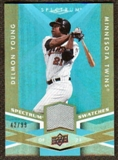 2009 Upper Deck Spectrum Spectrum Swatches Light Blue #SSDY Delmon Young /99