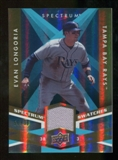 2009 Upper Deck Spectrum Spectrum Swatches Light Blue #SSEL Evan Longoria /99