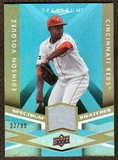 2009 Upper Deck Spectrum Spectrum Swatches Light Blue #SSEV Edinson Volquez /99