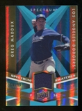 2009 Upper Deck Spectrum Spectrum Swatches Light Blue #SSGM Greg Maddux /99