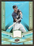 2009 Upper Deck Spectrum Spectrum Swatches Light Blue #SSHA Corey Hart /99