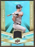 2009 Upper Deck Spectrum Spectrum Swatches Light Blue #SSJM Joe Mauer /99