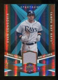 2009 Upper Deck Spectrum Spectrum Swatches Light Blue #SSLO Evan Longoria /99