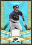 2009 Upper Deck Spectrum Spectrum Swatches Light Blue #SSMY Michael Young /99