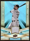 2009 Upper Deck Spectrum Spectrum Swatches Light Blue #SSNS Nick Swisher /99
