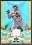 2009 Upper Deck Spectrum Spectrum Swatches Light Blue #SSRM Russell Martin /99