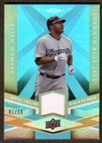 2009 Upper Deck Spectrum Spectrum Swatches Light Blue #SSVW Vernon Wells /99