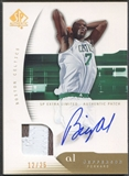 2005/06 SP Authentic #5 Al Jefferson Limited Extra Patch Auto #12/25